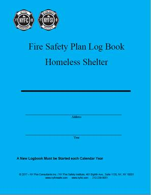 fire safety plan log book homeless shelter ny fire consultants inc